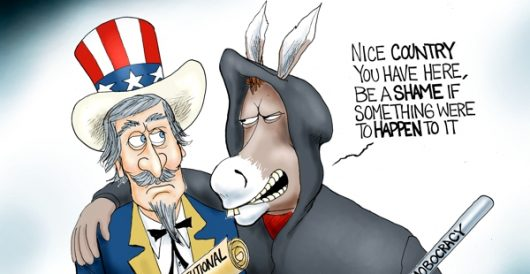 Cartoon of the Day: Mobocrat Party by A. F. Branco