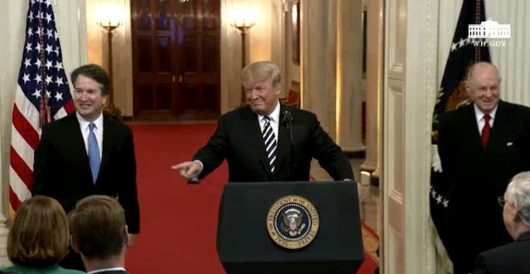 'Victory lap': Trump swears in Kavanaugh in special ceremony Monday evening by J.E. Dyer
