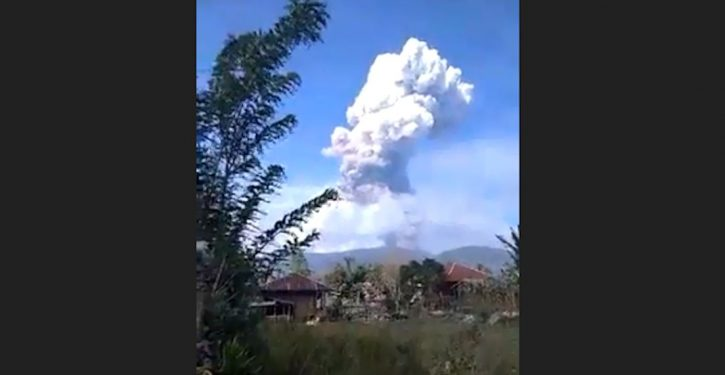 Volcano erupts on Sulawesi, Indonesian island hit by earthquakes, tsunami