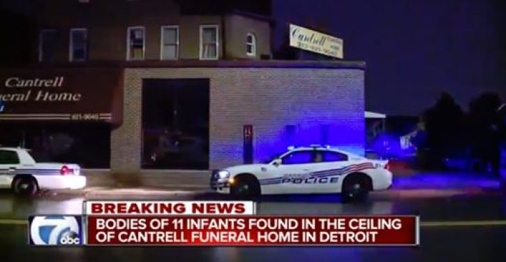 Eleven infant bodies found in ceiling of former Detroit funeral home