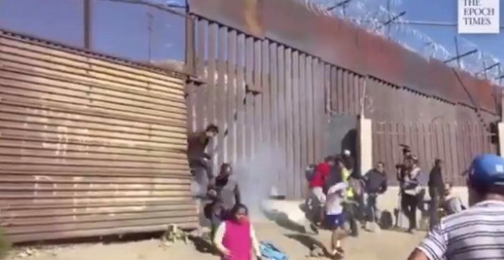 Tear gas on the border: Actually, used so often (under Obama), organizers were well aware it was inevitable