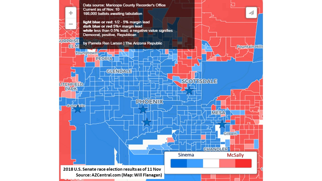 Arizona Mcsally Concedes To Sinema Bonus Map Of