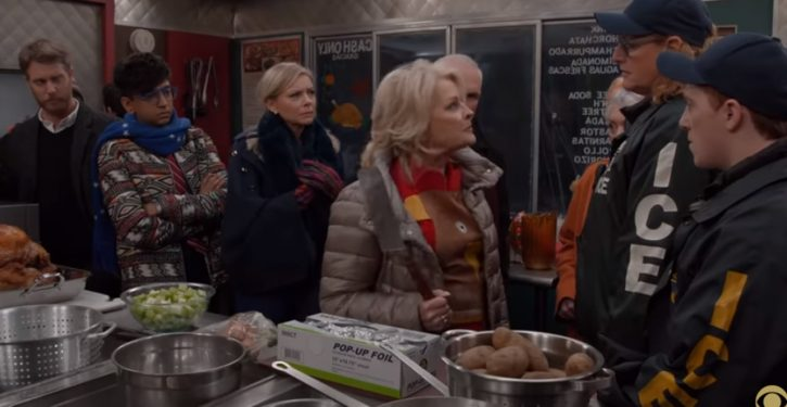 Furious 'Murphy Brown' to ICE in Thanksgiving episode: 'I will spatchcock you'