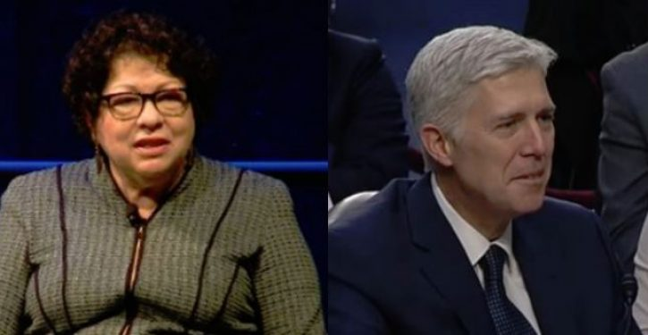 In this SCOTUS case, it's Neil Gorsuch and Sonia Sotomayor against the rest
