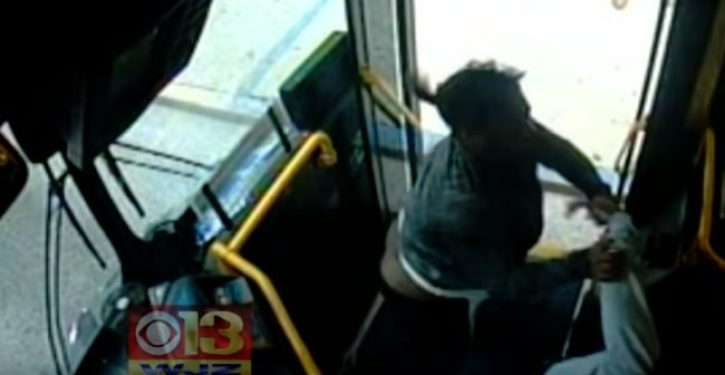 VIDEO: Baltimore bus passenger who misses her stop brutally attacks driver
