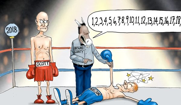 Cartoon of the Day: Down for the count by A. F. Branco