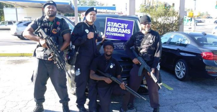 Black Panthers armed with assault rifles campaign for Stacey Abrams; one problem
