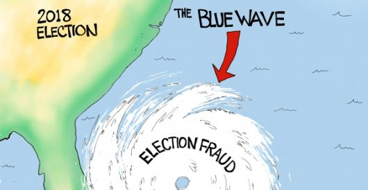 Cartoon of the Day: We got your blue wave by A. F. Branco