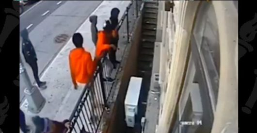 NYPD search for teens who hurled metal pipe through window of synagogue by Ben Bowles
