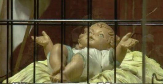 To demonstrate solidarity with illegal aliens, church nativity features baby Jesus in a cage by Rusty Weiss