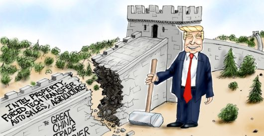 Cartoon of the Day: The Great Trade Barrier by A. F. Branco