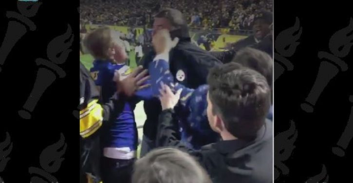 Steelers fan chokes pregnant Chargers fan during emotionally charged game