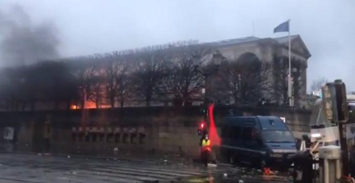 'Fuel tax protests': Paris is burning