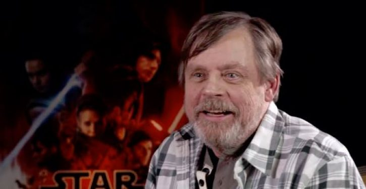 Mark Hamill says Darth Vader better than Trump: 'He saw the error of his ways'