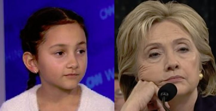 Hillary tells 8-year-old girl who lost election for class president you lost because of sexism