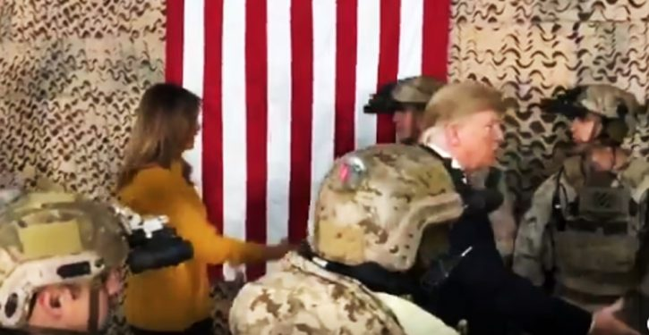 Media condemn Trump for not visiting troops at Christmas; he and Melania show up in Iraq