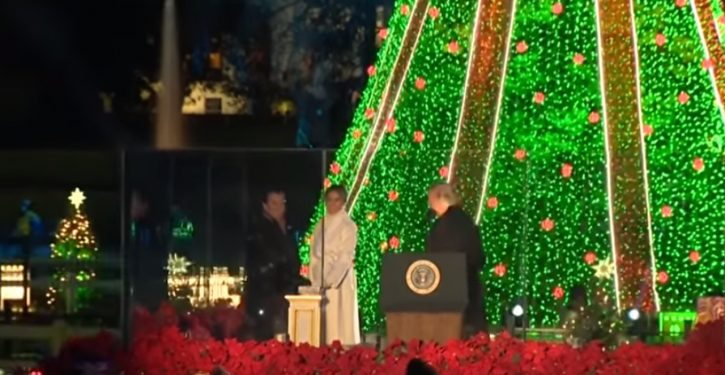 Odd incident: Trump whisked away after tree lighting, leaving press 'protective pool' behind