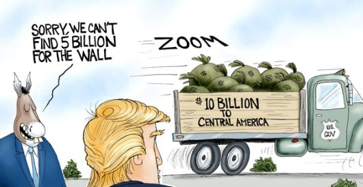 Cartoon of the Day: Bound for the border by A. F. Branco