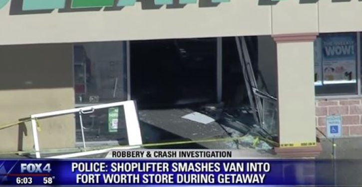 Man crashes van into store to rescue girlfriend who been caught shoplifting
