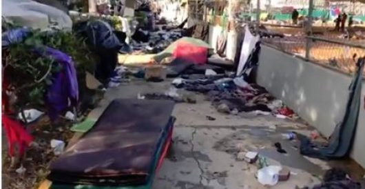 Abandoned Tijuana migrant camp now looks like National Mall after climate change rally by LU Staff