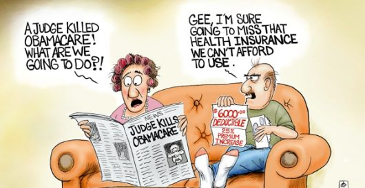 Cartoon of the Day: Unaffordable Care by A. F. Branco