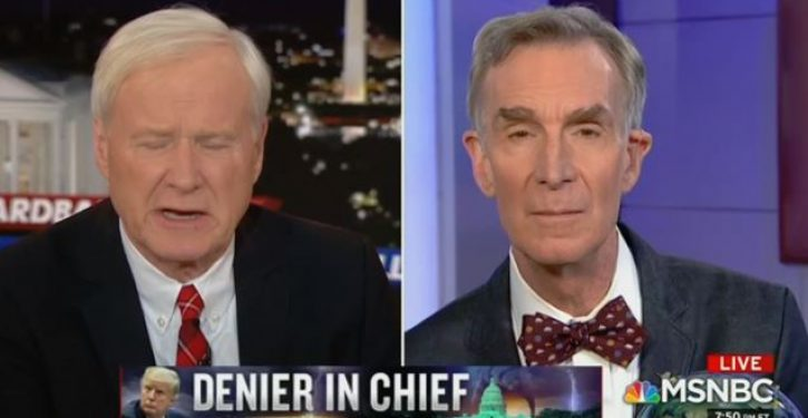 Chris Matthews to Bill Nye: Do you think climate change is to blame for illegal immigration?