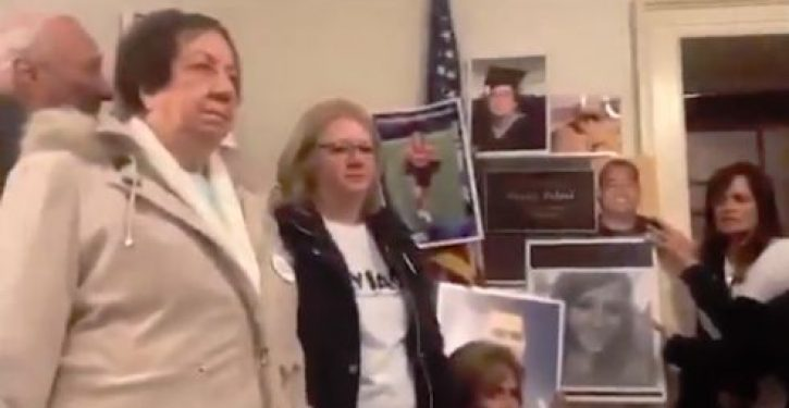 Families of victims of illegal immigration storm Pelosi's office; she refuses to meet with them