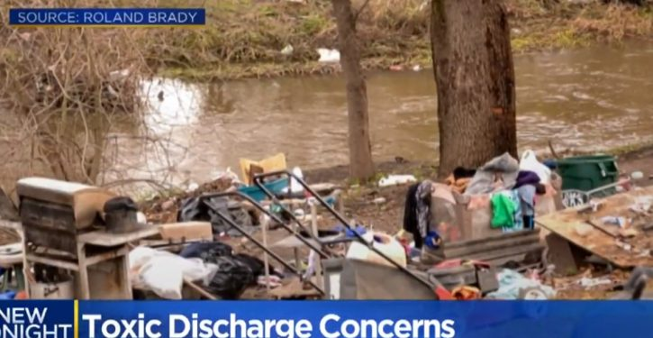 Homeless camp creating toxic waste nightmare in northern California waterway