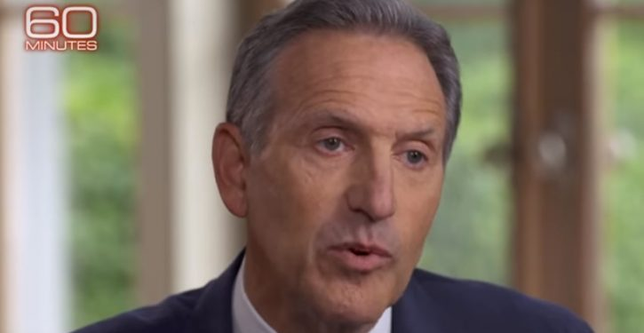 Ouch: Look at what happens to presidential polls when you add Howard Schultz into mix