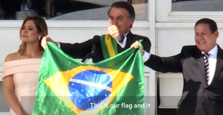 Brazil's Bolsonaro is open to hosting to a U.S. military base