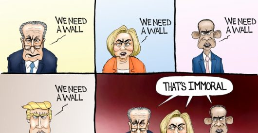 Cartoon of the Day: The wall, then and now by A. F. Branco