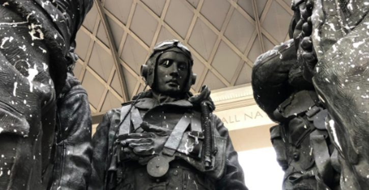 WWII memorial, statue of Churchill vandalized in London