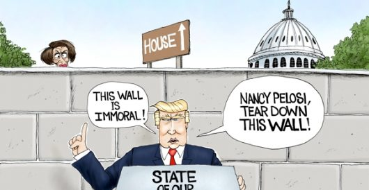 Cartoon of the Day: Nancy's wall by A. F. Branco