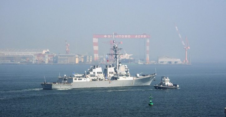 U.S. Navy destroyer conducts freedom of navigation ops in South China Sea