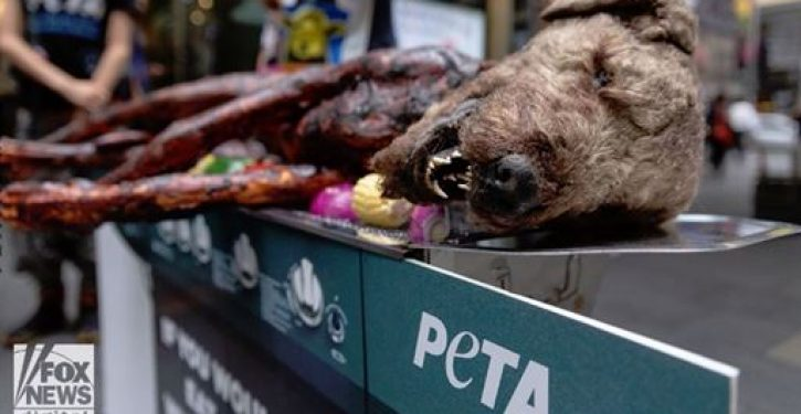 How far will PETA go to discourge meat eaters? This far
