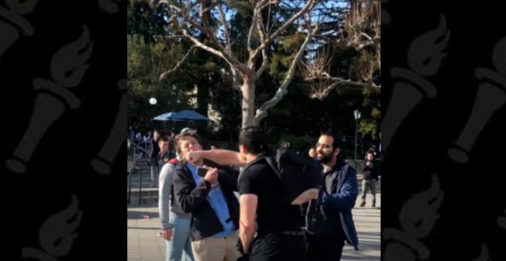 Tea Party supporter allegedly assaulted during protest outside 'Build the Wall' dinner