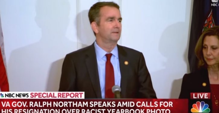 Northam offers head-scratcher of an alibi – and highlights Democrats' biggest political need