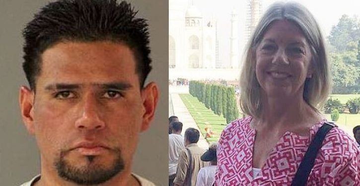 Mexican illegal with gang affiliation, long criminal history stabs, beats woman to death
