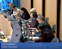 Seattle citizen shames city council for lack of common courtesy when he's speaking to them