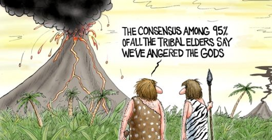 Cartoon of the Day: Man-made disaster by A. F. Branco
