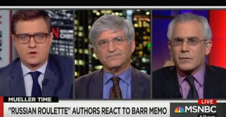 MSNBC panel admits that Mueller report 'undercuts almost everything' in Steele dossier