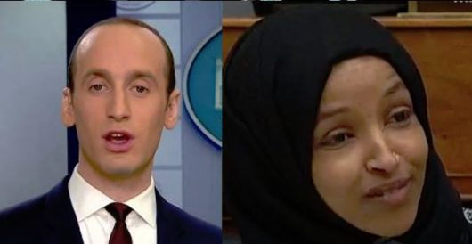 Anti-Semite Ilhan Omar brands Jewish Trump adviser Stephen Miller as a 'white nationalist by LU Staff
