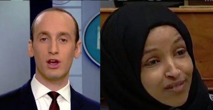 Anti-Semite Ilhan Omar brands Jewish Trump adviser Stephen Miller as a 'white nationalist