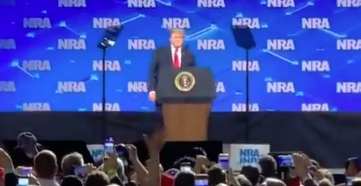 Phone thrown at trump during NRA speech