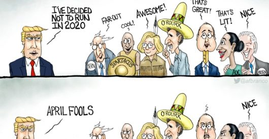 Cartoon of the Day: Jokers to the left of me by A. F. Branco