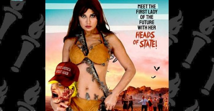 Cannes poster features First Lady holding Donald Trump's severed head