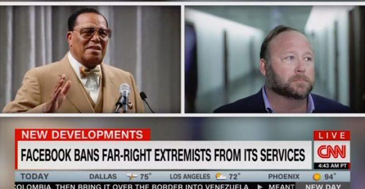 Now it's CNN's turn: Second left-wing news outlet identifies Louis Farrakhn as 'far-right'