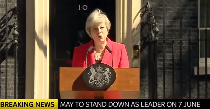 BREAKING: Theresa May announces resignation in address to nation