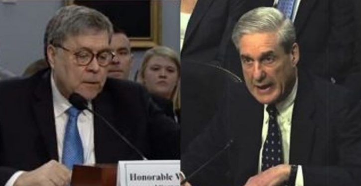 Orchestration: NYT, WaPo, a Mueller letter, and 11 House Dems promptly calling for IG probe of Barr