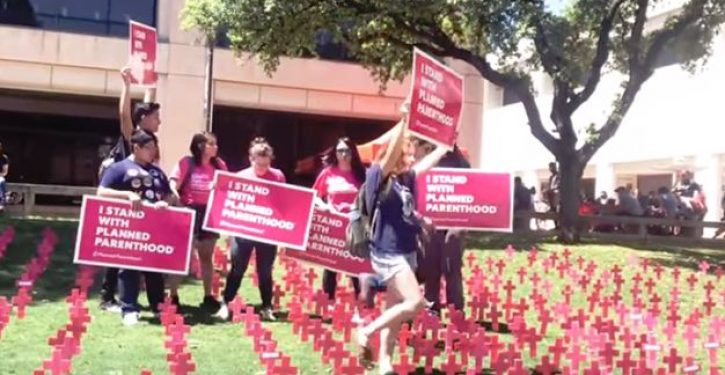 Pro-choice coeds desecrate pro-life exhibit, boast about having abortions